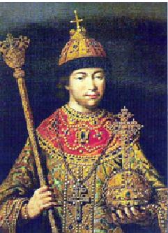 El zar Miguel I de Rusia (1613-1645)