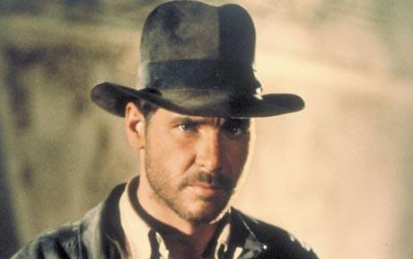 Harrison Ford cuando hizo la primera de Indiana Jones