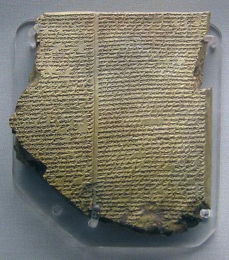 La tablilla del poema épico de Gilgamesh que habla sobre el Diluvio Universal