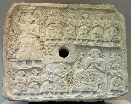 Relieve votivo de Ur-Nanshe, mediados del Protodinástico III