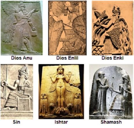 Representaciones de los grandes dioses mesopotámicos