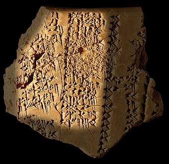 Tablilla con una autobiografía de Sargón de Akkad