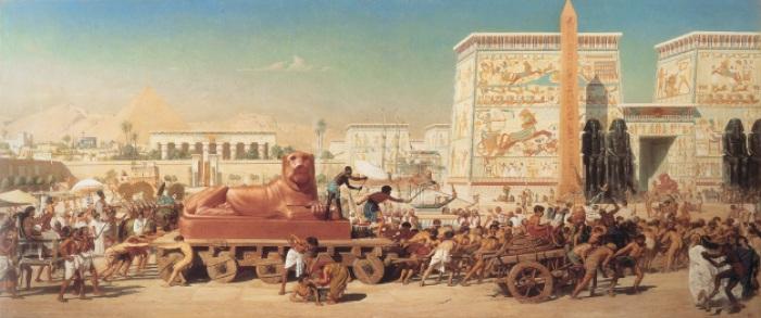 """""""Israel en Egipto"""", por Edward Poynter (1867)"""