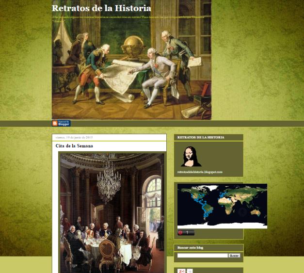 Captura de pantalla general de este gran blog curioso