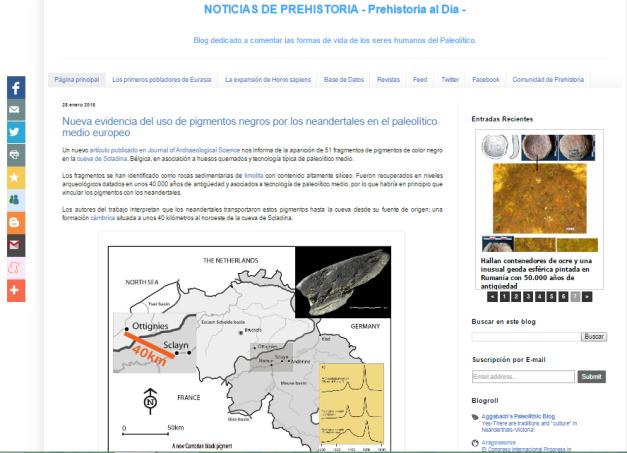Captura de pantalla general de este gran blog de Historia ágrafa