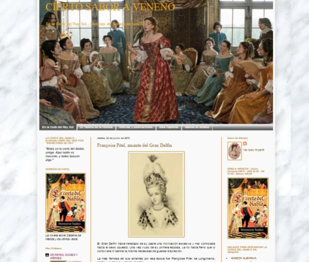 Captura de pantalla general de este gran blog sobre Luis XIV