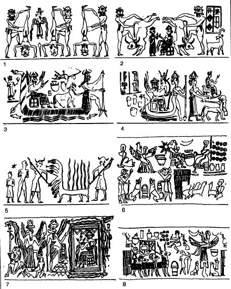 Escenas de la glíptica del periodo de Akkad