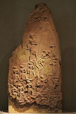 Estela de la Victoria de Naram Sin, aplastando a sus enemigos