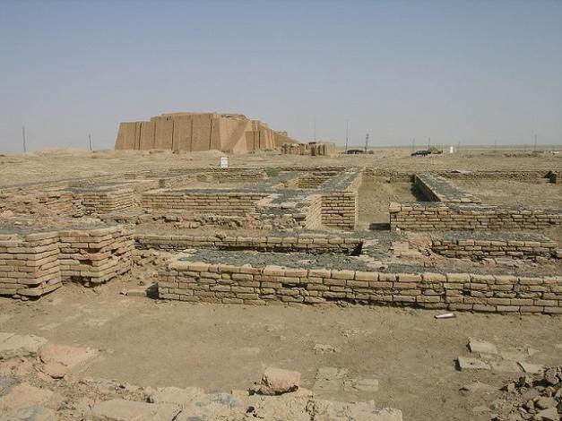 Fotografía de las ruinas de la ciudad de Ur