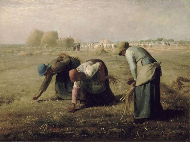 """Las espigadoras"" de Jean François Millet (1857)"