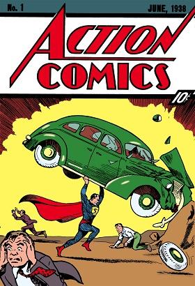 Portada del primer cómic publicado de Superman, en junio de 1938