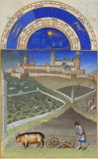 Los labriegos son el mes de marzo del libro Les très riches heures du Duc de Berry