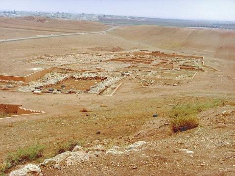 Algunas ruinas arqueológicas de la Ebla del tercer milenio a.C.