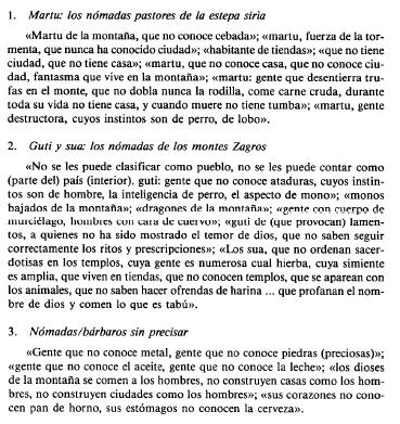 Algunos ejemplos de los estereotipos de la literatura neosumeria