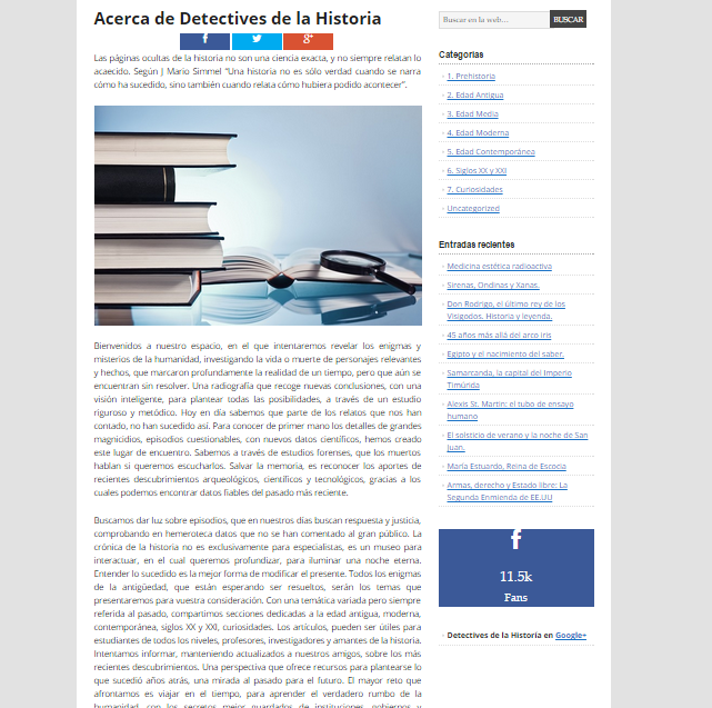Captura de pantalla de la presentación de este gran blog