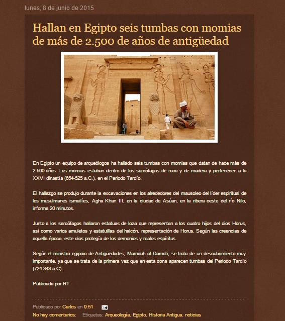 Captura de pantalla de uno de los artículos de este gran blog