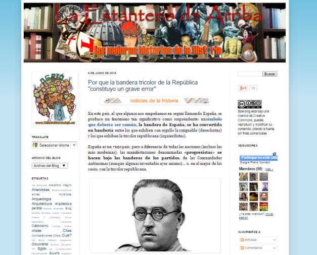 Captura de pantalla general de este gran blog de curiosidades históricas
