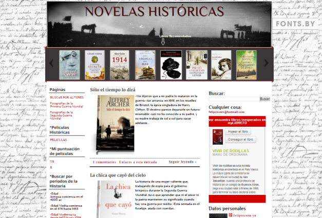 Captura de pantalla general de este gran blog literario