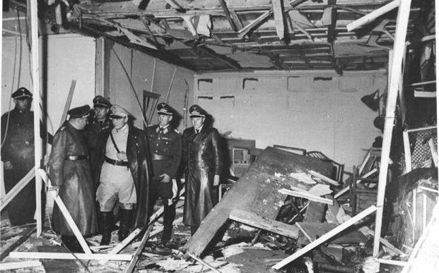 Estado en el que quedó la sala en la que se produjo la explosión a la que Hitler sobrevivió