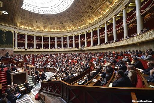 Fotografía de la Asamblea Nacional de Francia en la actualidad
