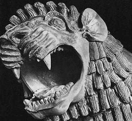 León de terracota del periodo paleobabilónico