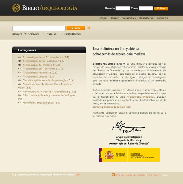 Captura de pantalla de esta gran biblioteca online de arqueología medieval