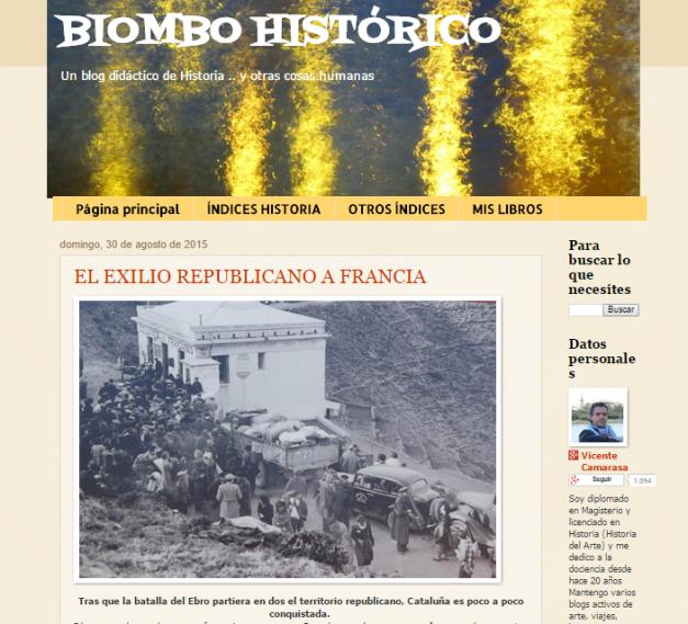 Captura de pantalla general de este gran blog de Historia para estudiantes