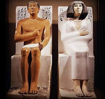 Esculturas de un matrimonio egipcio