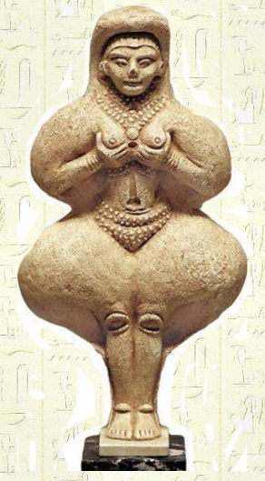 Estatua babilónica en la que se representa a la diosa Ishtar