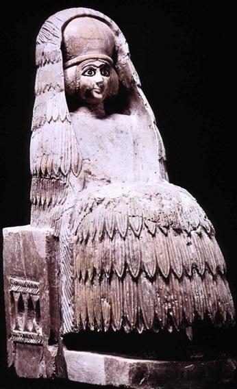 Figura de una diosa hallada en Siria, correspondiente al Bronce Medio