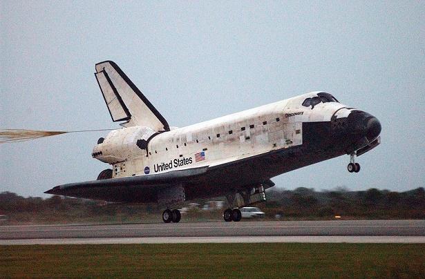 Fotografía del transbordador espacial Discovery en el año 2006