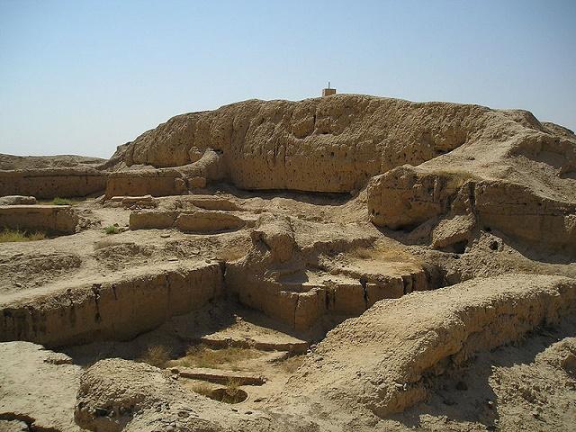 Mapa parcial de las ruinas arqueológicas de la ciudad de Mari