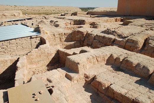 Vista parcial de las ruinas arqueológicas de la ciudad de Qatna, al sur de Siria