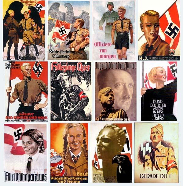 Algunos ejemplos de propaganda real nazi durante la Segunda Guerra Mundial