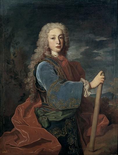 Único retrato del rey Luis I de España, que reinó unos sietes meses en 1724