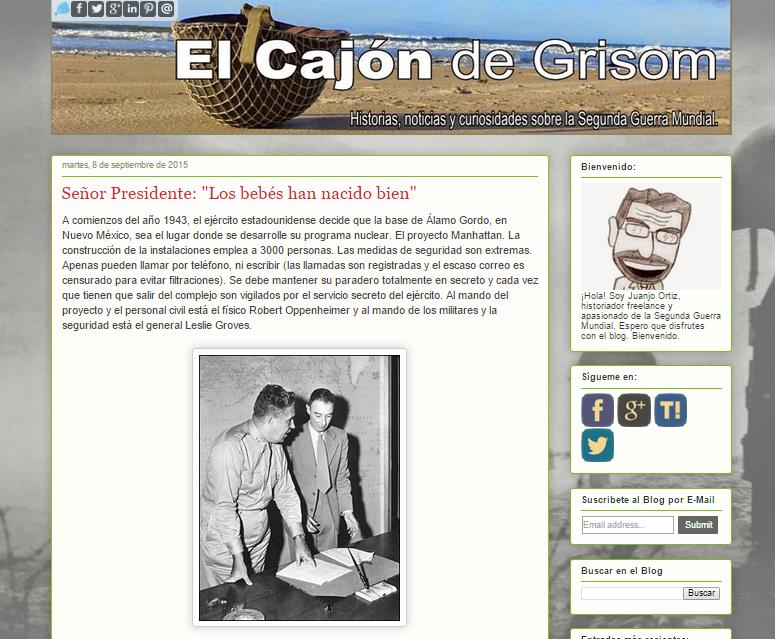 Captura de pantalla general de este gran blog de la segunda guerra mundial