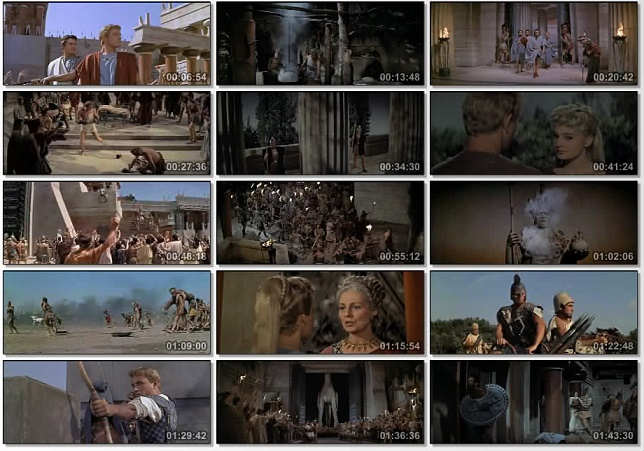 """Colección de fotogramas diversos de la película """"Helena de Troya"""""""