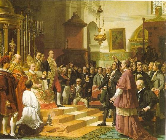 Cuadro que recoge el juramento de las Cortes de Cádiz en 1810