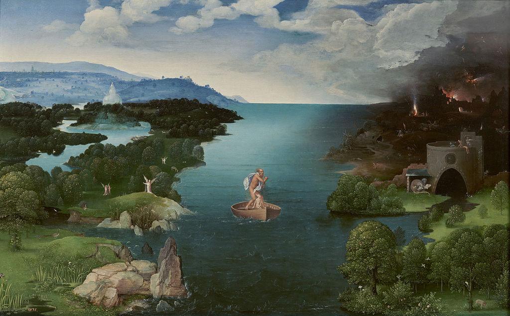 Cuadro renacentista representando la Laguna Estigia