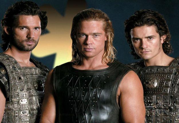 De izquierda a derecha, Héctor, Aquiles y Paris