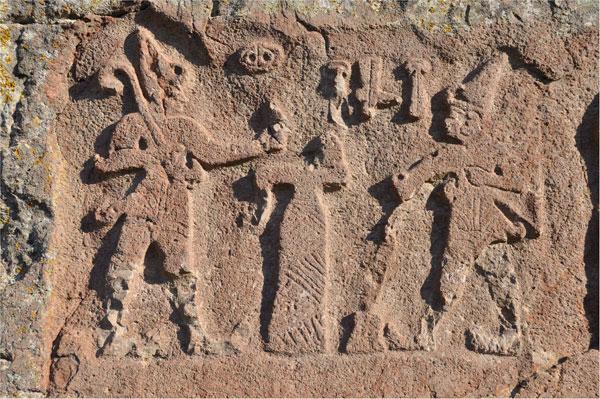 Estado actual de un relieve hitita en el que se muestra a Hattusili I
