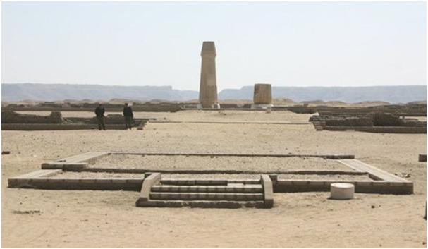 Estado actual del templo del dios Atón