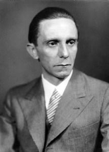 Fotografía de Joseph Goebbels, ministro de propaganda en la Alemania nazi