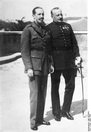 Fotografía histórica que muestra juntos al rey Alfonso XIII y Miguel Primo de Rivera
