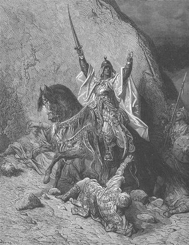 Grabado del siglo XIX en el que se representaba a Saladino