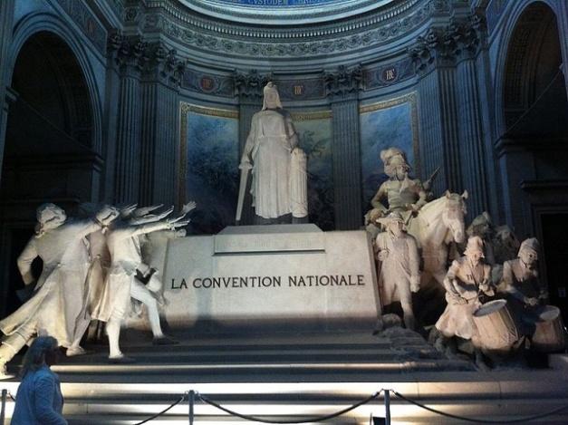 Monumento a la Convención Nacional, primer gobierno de la I República Francesa