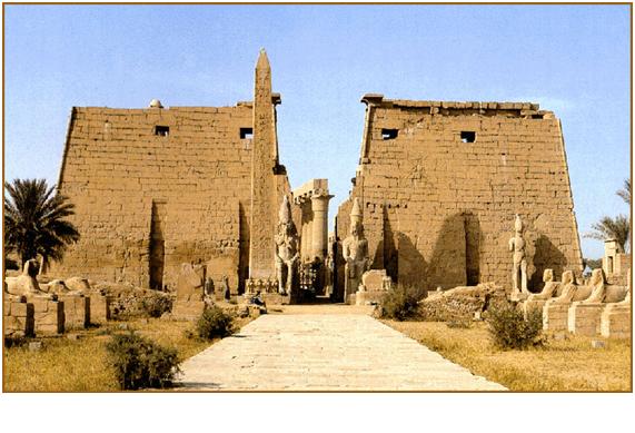 Templo de Karnak dedicado al dios Amón-Ra