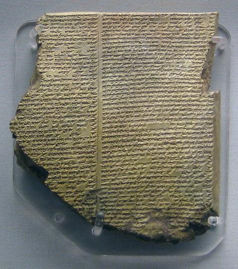 Una de las tablillas que contienen la Epopeya de Gilgamesh