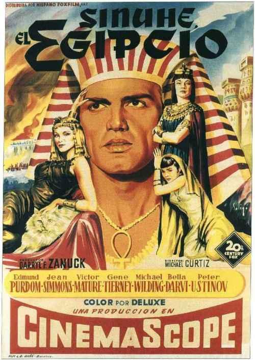 Uno de los carteles promocionales de Sinuhe el egipcio