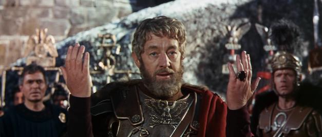 Uno de los fotogramas de la película, mostrando al personaje de Alec Guiness